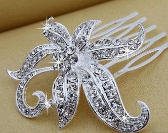 Bridal hair comb, wedding hairpiece rhinestone, crystal bridal comb, bridal headpieces, hair jewelry