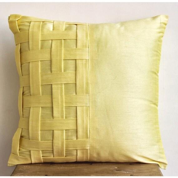 designer yellow pillow cases 16x16 silk pillows