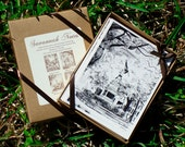Savannah Notes Boxed Stationery Set - Savannah Square Drawing Note Cards Set of 8 Cards