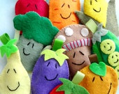 Vegetable Felt Finger Puppets Sewing Pattern - PDF ePATTERN