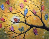 Butterfly art print decor ... Butterfly Lights -- Signed 8 x 10 Glossy Print, from my original painting by Amy Giacomelli
