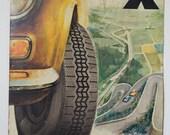 Rare original large 1970s French toleware Michelin sign