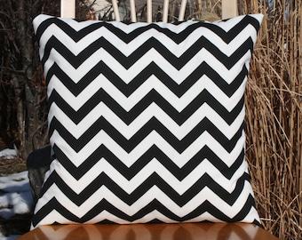Black Chevron Pillow Cover