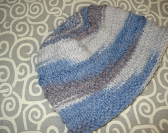 Children's blue and grey hat