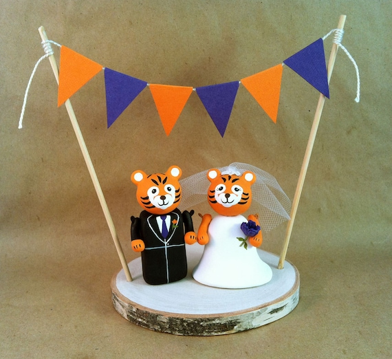 College Mascot Wedding Cake Topper Clemson University Tigers