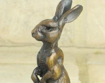 Tiny Alfie bronze rabbit