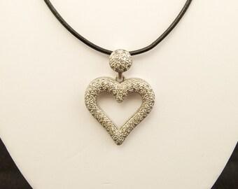 SALE WAS 40 Vintage Sterling Silver Heart Pendant
