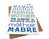 Mother in Many Languages -- Mother's Day Card