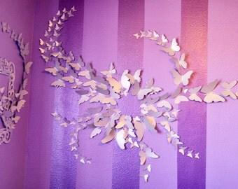 200 3D Butterfly Wall Art Circle Burst