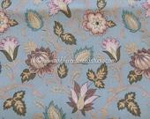 Elegant Floral  - Vintage Fabric Decorator New Old Stock Gold Metallic Elegant French Paris