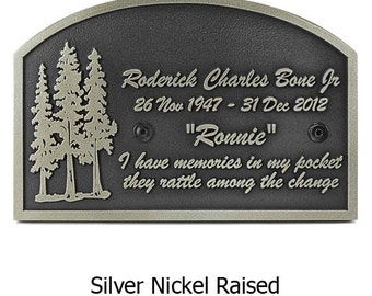 Pine Tree Memorial Memory Sign Historical Plaque 18x 12 inches Custom for you by Atlas Signs and Plaques Made in the USA
