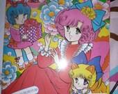 Vintage Japan paper dolls book  big eye girl shoujo manga anime series kawaii showa era