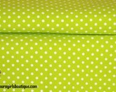 Key lime pie dots 1/2  yard yard knit. Excellent quality