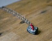 Clearance. Gift Necklace - Semi-Precious Stone Chain Necklace