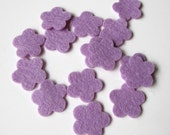Flower Die Cuts - 100% Wool Felt - Tiny Blossoms Set of 15 - Applique - Confetti - Party Supply -  DIY