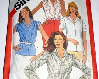 Vintage (1983) Simplicity Sewing Pattern - Shirts, Blouses - for Sewing or Crafting