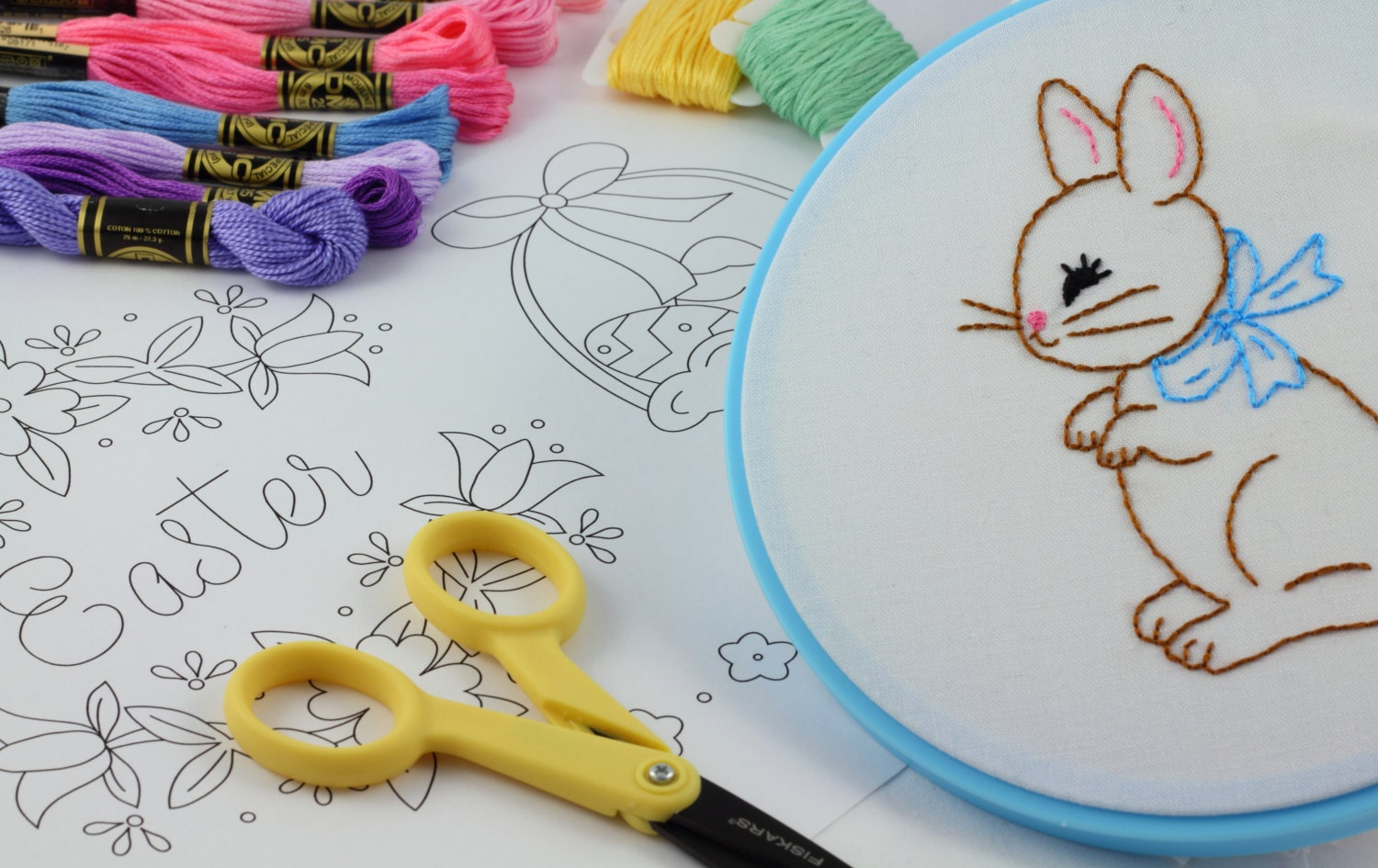 Easter Embroidery Pattern Hand Embroidery Easter Embroidery