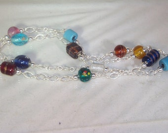 Lampwork Glass Jewelry - Necklace - Multicolored - 30 inch