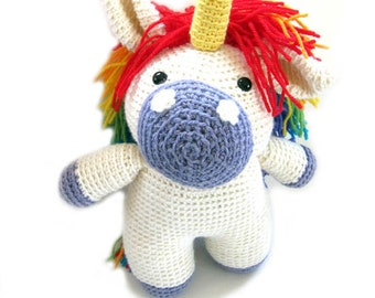 Unicorn: Rainbow Crochet PATTERN -pdf-