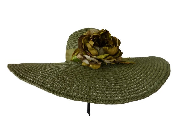 """Kentucky Derby Hat, Easter Hat, Spring Fashion Hat, in Lush Tones of Green  -  """"Ms  HARMONY"""""""