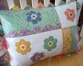 Decorative Pillow Vintage Fabrics Hand Applique
