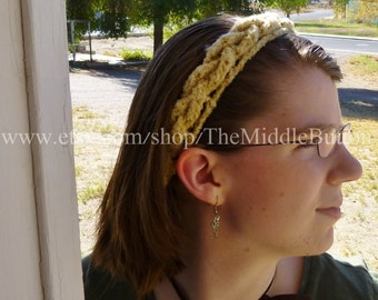 The Janet - Braided Headband - In Tan