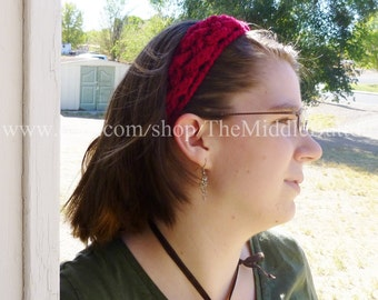 The Jean - Celtic Knot Headband - In Scarlet
