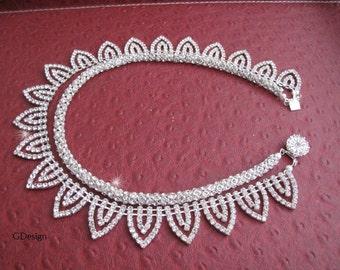 Bridal Rhinestone Necklace, Wedding Rhinestone Necklace, Bridal, Bridesmaids