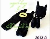 Batman  costume,overall boots Hat, batman newborn costume, baby  costume ,newborn  costume,batman costume