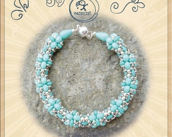 Bracelet tutorial / pattern S.D. Simo with superduo beads ..PDF instruction for personal use only