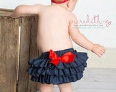 Baby's Got Her Blue Jeans On Denim Sassy Pants Ruffle Bloomer Diaper Cover