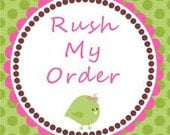Rush Order Upgrade ...I Need my Plate in 10 Days or Less : )