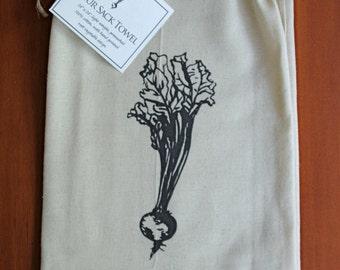 Root Vegetable Flour Sack Towel