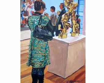Museum Fine Art Print  8x10, Boccioni Futurism MOMA Museum Spectator Figurative Painting by Gwen Meyerson