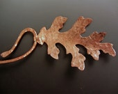 Forged Copper Leaf Neck Wire OOAK Textured