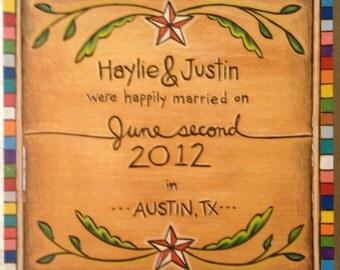 Custom Wedding Announcement