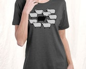Black Sheep T-Shirt, Women's plus size charcoal vintage t-shirt 1X, 2X, Gift for Her
