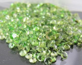 rare faceted Russian demantoid green garnet approximately 1 carat total weight FREE SHIPPING