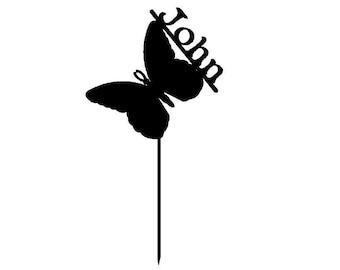 Custom Butterfly garden stakes in style JOHN (S9)