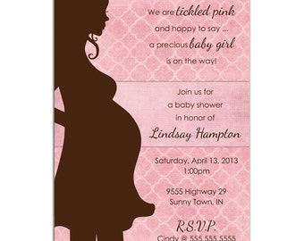 Mommy-to-Be Sillhouette Baby Shower PRINTABLE PDF ONLY
