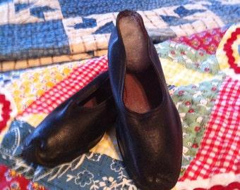 Vintage Child's Black Rubbers- Shoe Covers