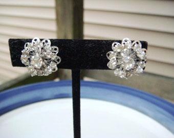 Vintage Sarah Coventry Silver Rhinestone Earrings