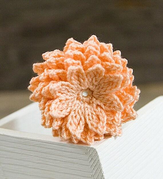 Crochet Flower Pattern Dahlia : Crochet Flower PATTERN Dahlia Flower PDF by joyoustreasures