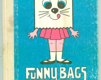 Vintage Funny Bags by Betsy Pflug 1968 Paperbag Crafting For Kids Cute