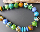 Lampwork beads for necklace   Sra SALE