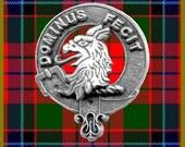 Baird Clan Crest Scottish Pewter Cap Badge CB01