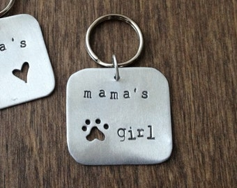 READY TO SHIP: Mama's Girl Pet Tag, Handmade Dog or Cat Tag, Gifts for Pets, Dog Accessory, Gift from Dog, Mother's Day Gift, New Puppy Gift