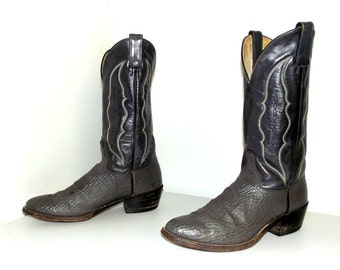 Two tone grey leather Abilene cowboy boots size 8.5 D or cowgirl size 10