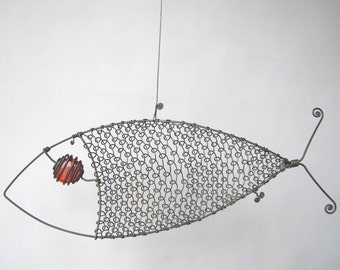 Wire Sculpture Another Red - Eyed Fish