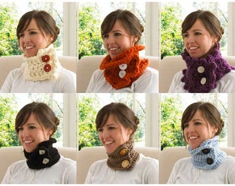 30-Minute Neck Warmers Crochet Pattern PDF